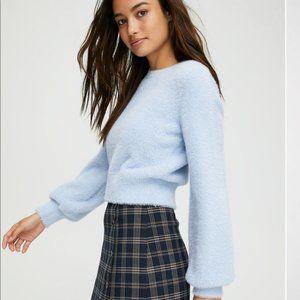 Sunday Best Aritzia Light Blue Kitten Crop Sweater